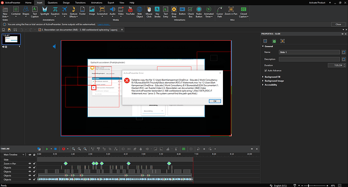 3. Long error after could not import file error